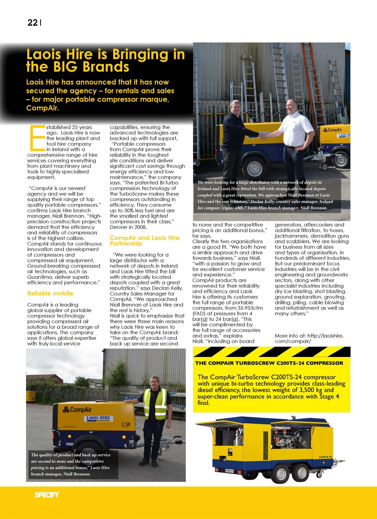 Laois Hire Specify Magazine October 2016